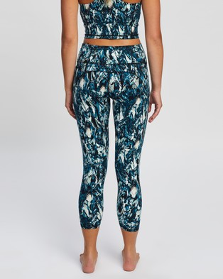 Sweaty Betty Power Workout 7 8 Leggings - 7/8 Tights (Blue Marble Print)