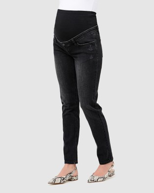 Ripe Maternity Tyler Classic Slim Leg Jeans - Slim (Black)
