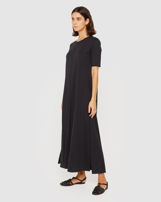 Jag Organic Cotton Half Sleeve Dress Dresses Black