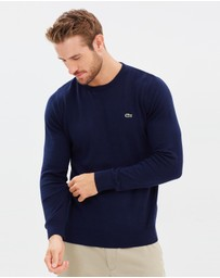 Lacoste - Basic Crew Neck Cotton Sweater