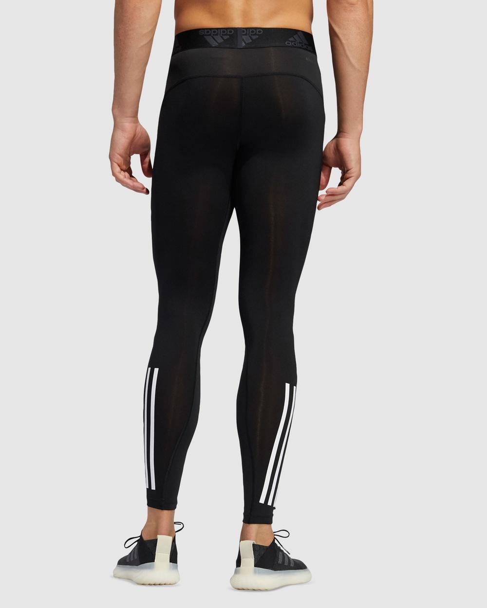 adidas Performance Techfit 3 Stripes Long Tights Sports Black 3-Stripes