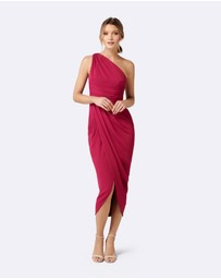 Forever New - Mandy One Shoulder Drape Maxi Dress