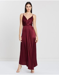 Shona Joy - Tie Draped Midi Dress