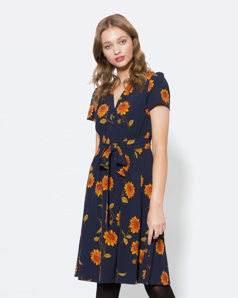 Princess Highway Dahlia Dress Dresses Blue Dahlia Dress