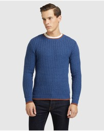 Oxford - Tommy Waffle Crew Neck Knit