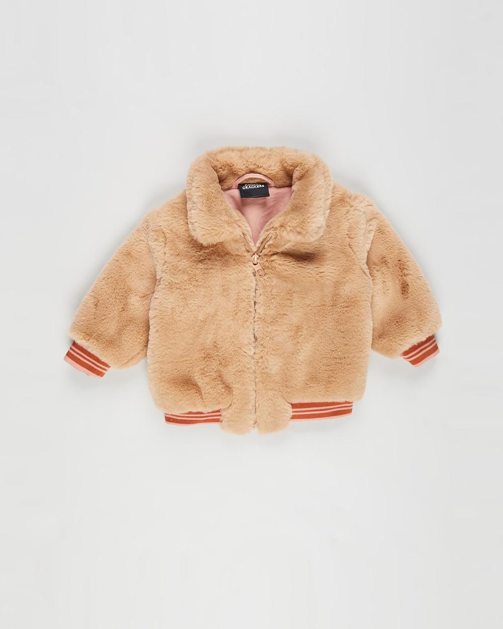 Animal Crackers Staple Jacket Babies Coats & Jackets Tan