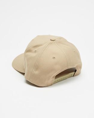 Brixton Alpha Block Curved Medium Profile Snapback - Headwear (Khaki)