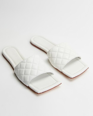 Tony Bianco Geena - Slides (White Sheep Nappa)