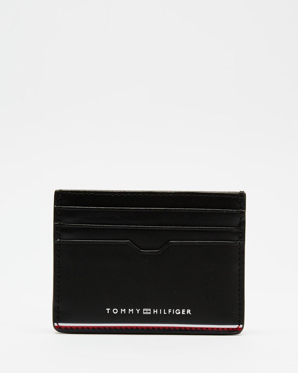 Tommy Hilfiger TH Commuter Credit Card Holder Wallets Black Australia