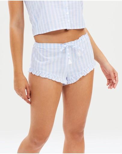 Tilijay Lux Shorts Blue & White Stripe