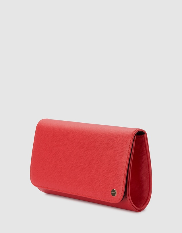 Women Anabelle Saffiano Fold Over Clutch