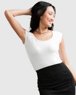 SACHA DRAKE Cap Sleeved Top - Tops (White)