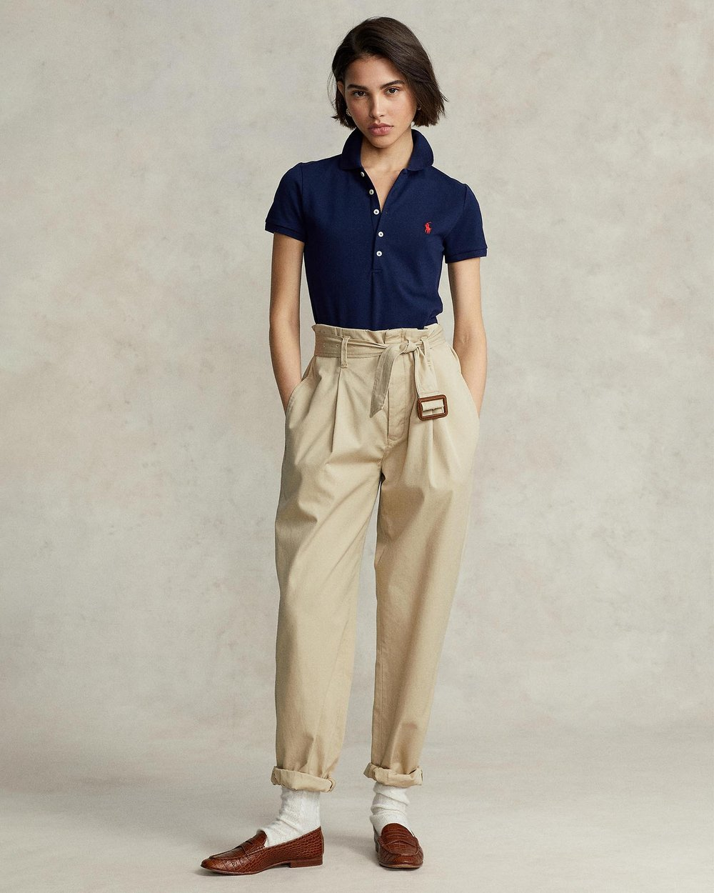 aaef2cd5 Skinny Fit Stretch Mesh Polo by Polo Ralph Lauren Online | THE ICONIC |  Australia