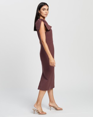 Romance by Honey and Beau Maddison Bow Dress - Bridesmaid Dresses (Dirty Pink)