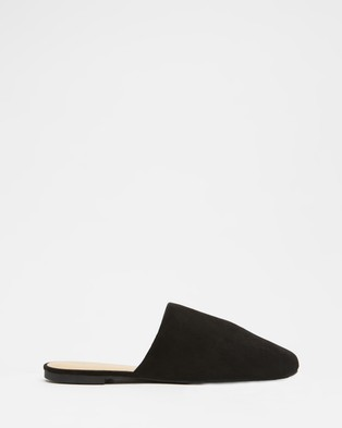 SPURR Mary Flats - Flats (Black Microsuede)
