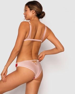 Bras N Things Enchanted Chloe Brazilian Knicker - Briefs (Red/Light Pink)