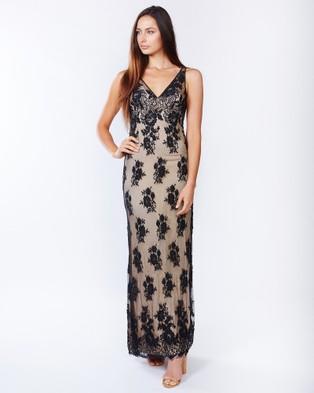 PIZZUTO – Provocateur Lace Gown – Bridesmaid Dresses (Black)