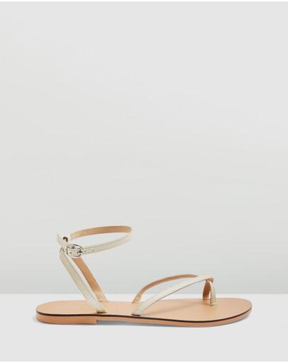 Topshop Panda Sandals Cream