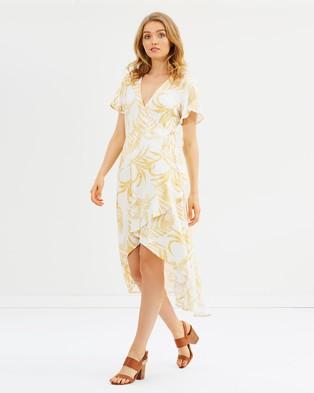 MINKPINK – Golden Palm Dress – Printed Dresses Multi