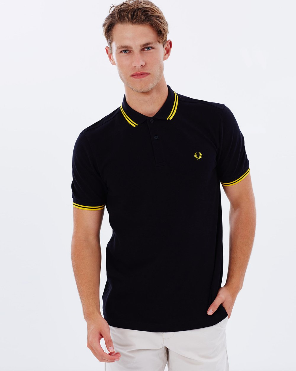 0f23bbf51 Slim-Fit Twin Tipped Polo Shirt by Fred Perry Online | THE ICONIC |  Australia