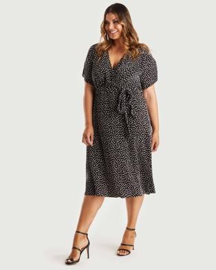 Estelle Sophie Dress - Printed Dresses (Black/Cream)