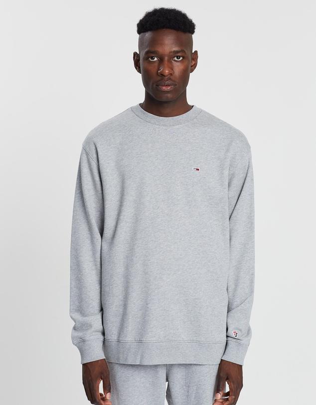 Tommy Jeans Classics Crew Neck Sweatshirt Light Grey Heather