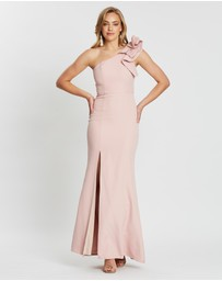 Bariano - Sue Frill Shoulder Gown