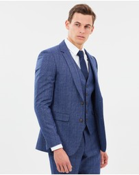 Burton Menswear - Brushed Prince Of Wales Checked Slim Fit Suit Jacket
