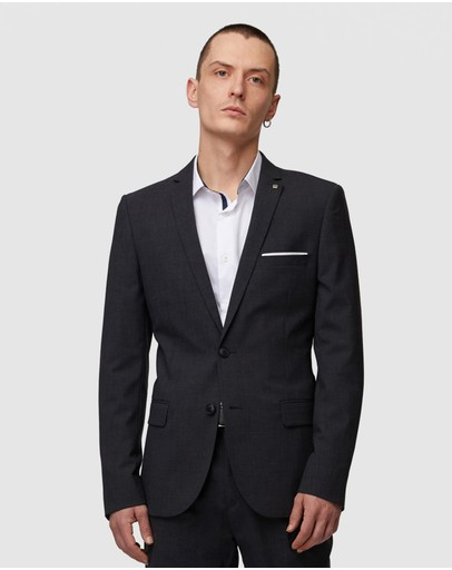 Jack London Brompton Suit Jacket Grey