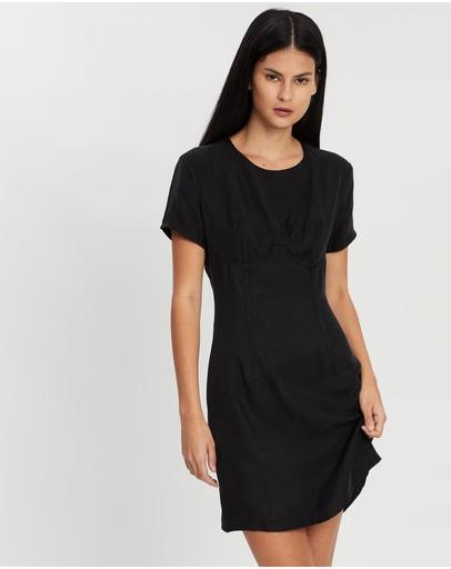 Third Form Corset Mini Tee Dress Black