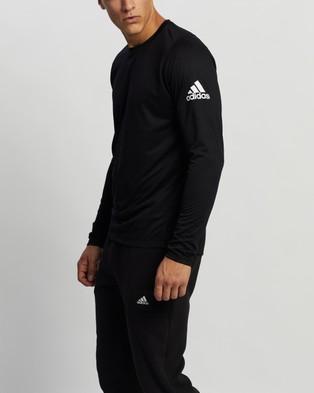 adidas Performance - FreeLift Solid Badge of Sport Tee Long Sleeve T-Shirts (Black)