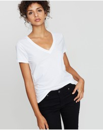 Gap - Vintage Ribbed V-Neck Tee