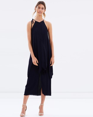 KITX – Layered Angle Dress – Dresses (Navy)