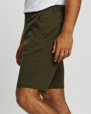 Staple Superior Organic Organic Casual Chino Shorts - Chino Shorts (Dark Khaki)