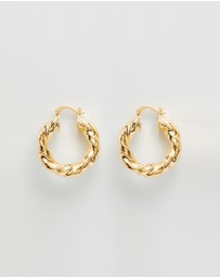 Reliquia Jewellery - Mini Twine Hoops