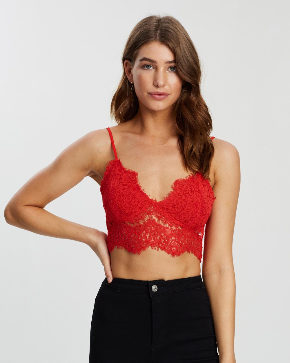 cab1def3a2e Corded Lace Bralette by Missguided Online   THE ICONIC   Australia