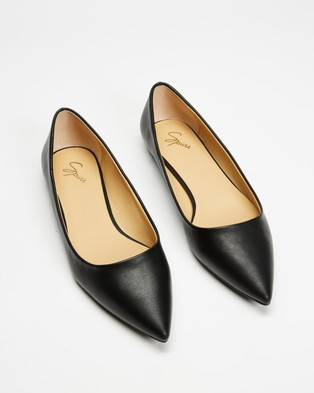SPURR Allie Flats - Ballet Flats (Black smooth)