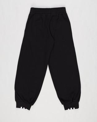 adidas Performance 3 Stripes Snap Track Pants Kids Teens Sweatpants Black & White 3-Stripes Kids-Teens