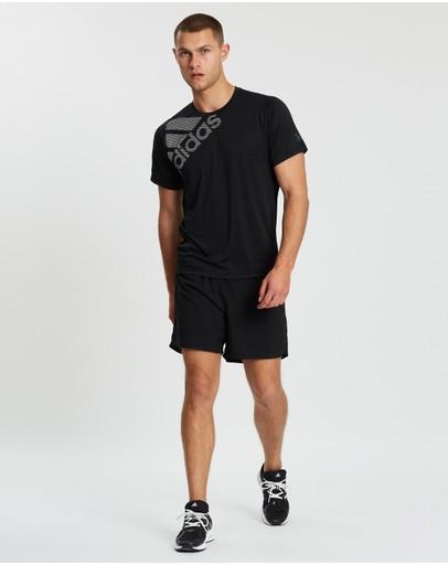 Adidas Performance Freelift Badge Of Sport Graphic Tee Black