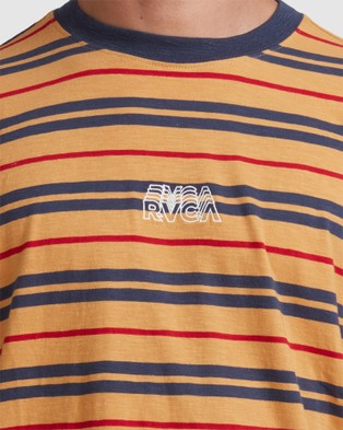 RVCA Rvca Shadow Stripe Short Sleeve Tee - T-Shirts & Singlets (GOLDENROD)