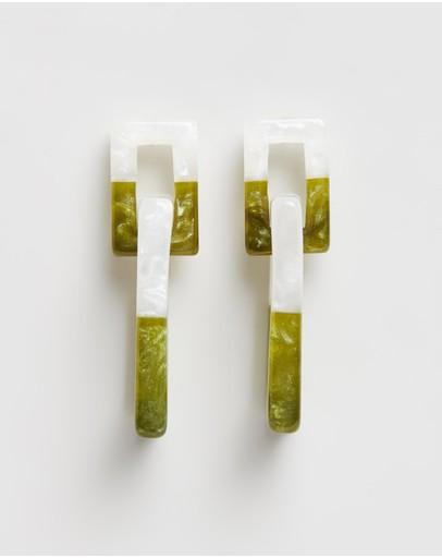 Amber Sceats Bea Earrings Green