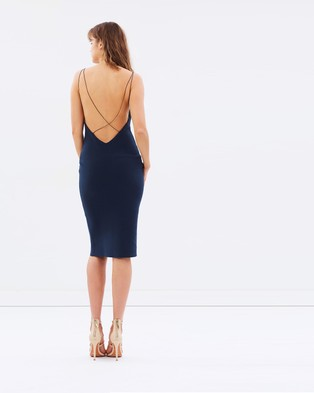 Bec & Bridge – Florence Midi Dress – Bodycon Dresses Petrol
