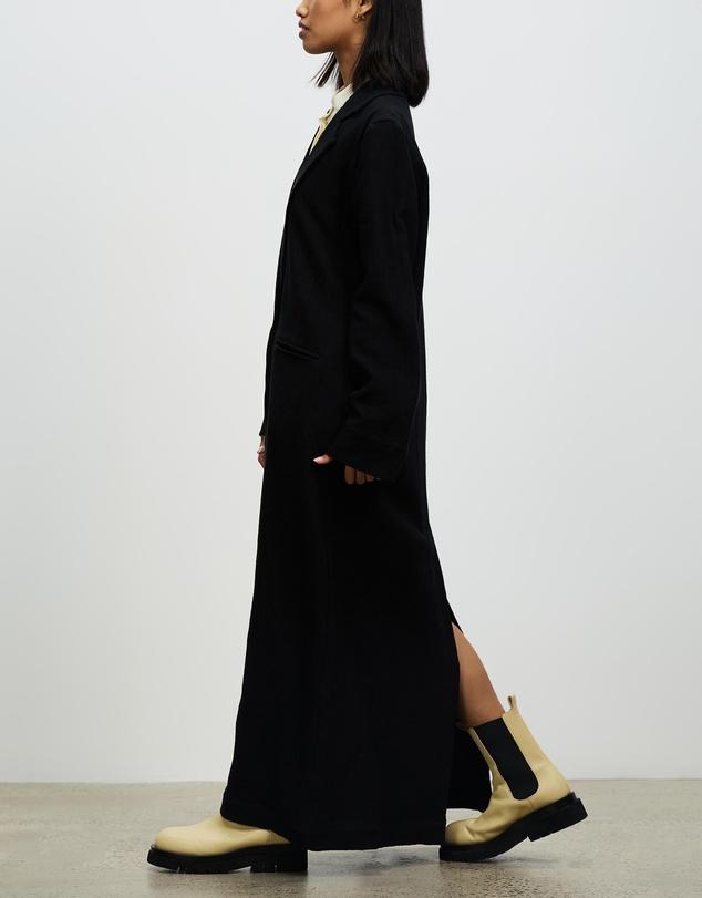 Women Textured Linen Coat