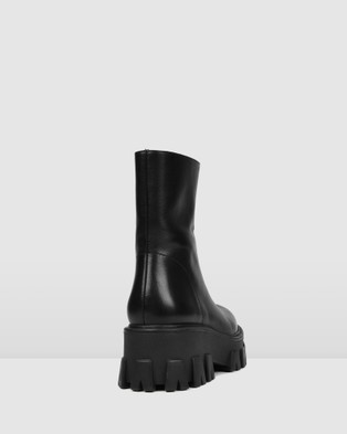 Jo Mercer - Rococco Mid Ankle Boots (BLACK LEATHER)