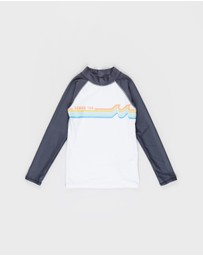 Cotton On Kids - Flynn Long Sleeve Raglan Rash Vest - Kids-Teens