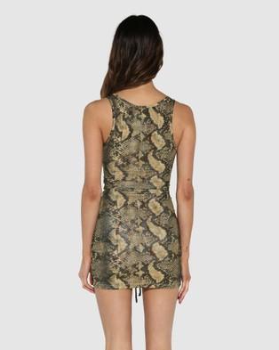 BY.DYLN Levi Dress - Dresses (Golden Snake)