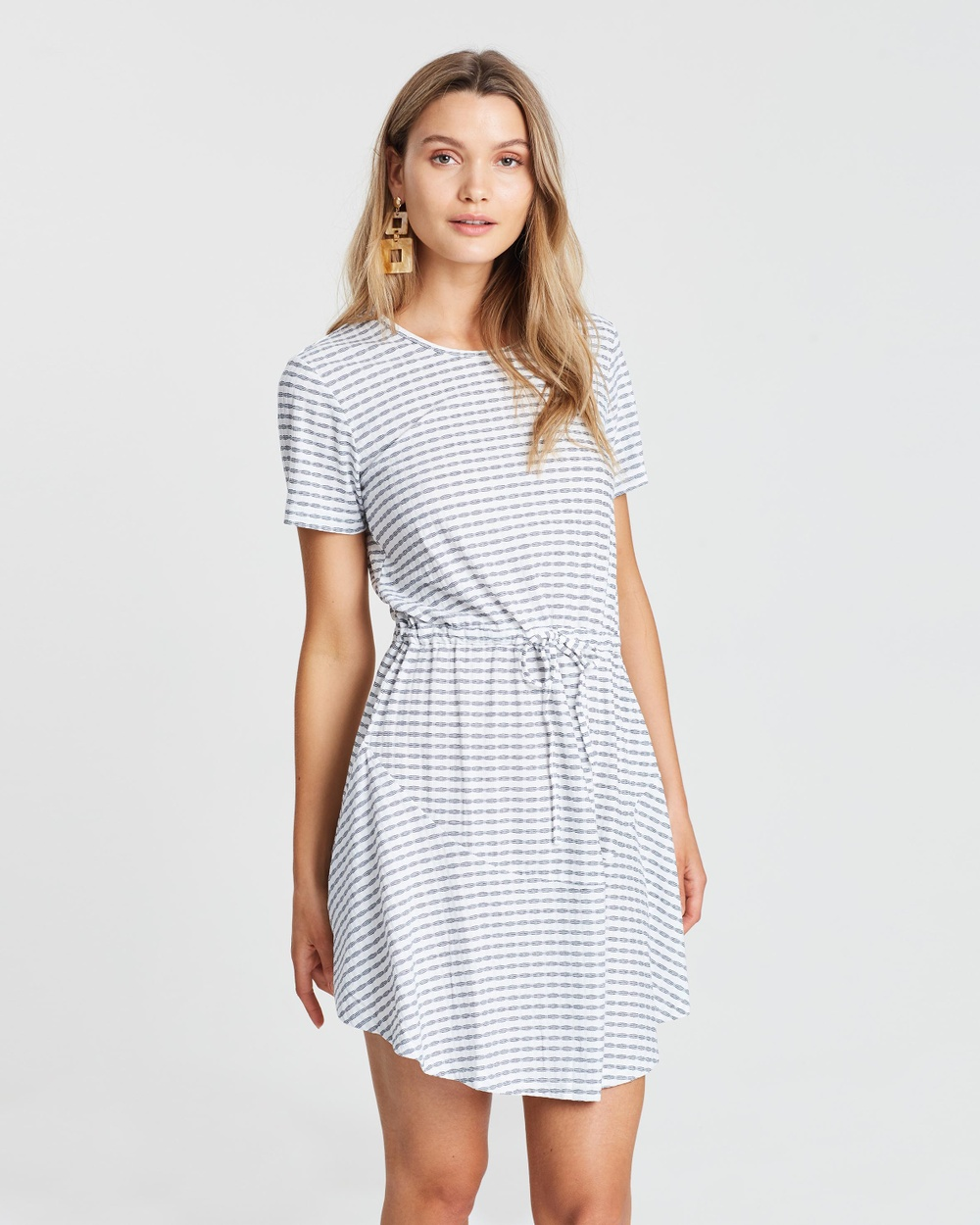 Photo of MINKPINK White & Navy Lena Skater Dress - buy MINKPINK dresses on sale online