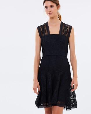 Lover – Vine Tier Mini Dress – Dresses (Black)