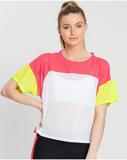 Asics Style Top Brilliant White & Laser Pink