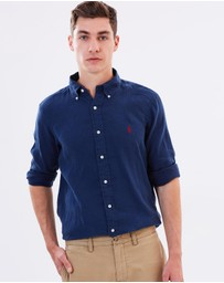 Polo Ralph Lauren - Long Sleeved Slim Linen Shirt